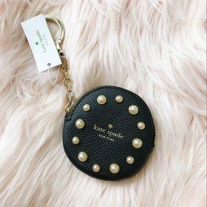 NWT Kate Spade coin purse keychain